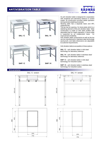 ANTIVIBRATION TABLE
