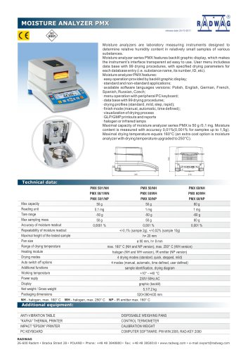 PRECISION BALANCES PM