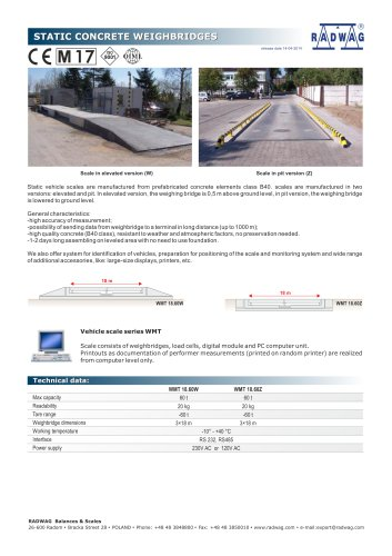 STATIC CONCRETE WEIGHBRIDGES
