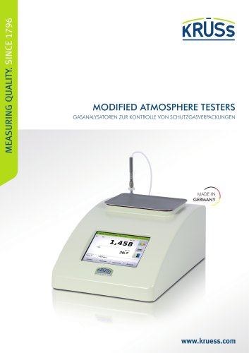 Gasanalysatoren - Modified Atmosphere Testers