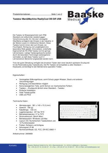 Tastatur Man&Machine ReallyCool DE/GR USB
