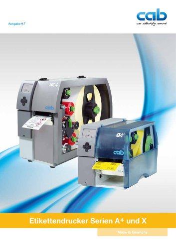 Etikettendrucker a+ - und X-Serie