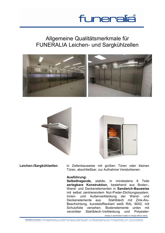 Kühlkatafalk - Funeralia - PDF Katalog | technische Unterlagen ...