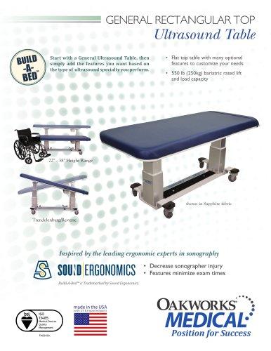 General Rectangular Top Table Ultrasound