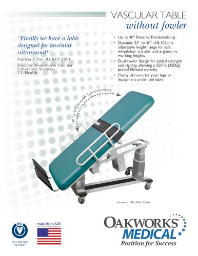 Vascular Table without Fowler