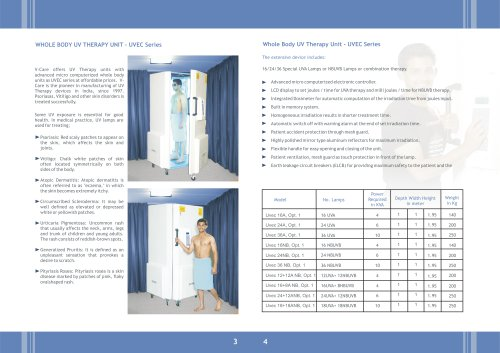 Whole body UV Therapy (UVec Series)
