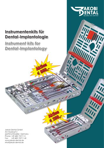 Instrument kit fur Implantolgie
