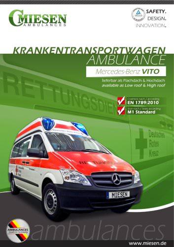 Krankentransportwagen gemäß EN 1789 auf Mercedes Benz Vito