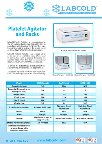 Platelet Agitator AGIT1006MD