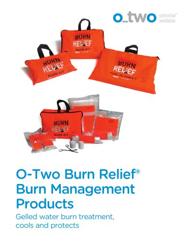 Gelled water burn treatment,  cools and protects