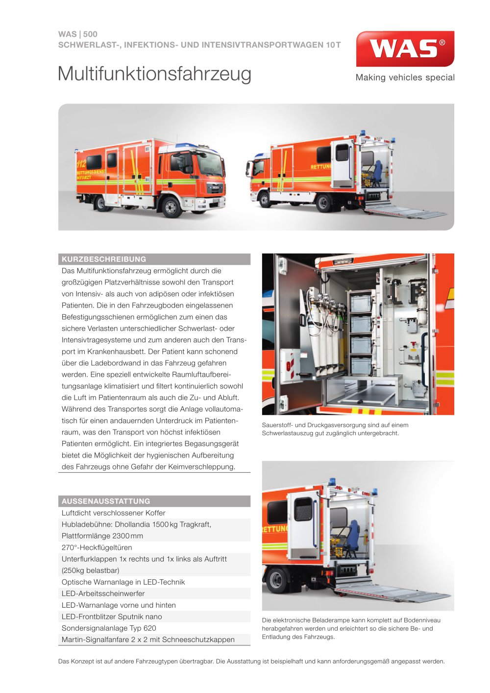 WAS 500 Schwerlast-, Infektions- und Intensivtransportwagen ...