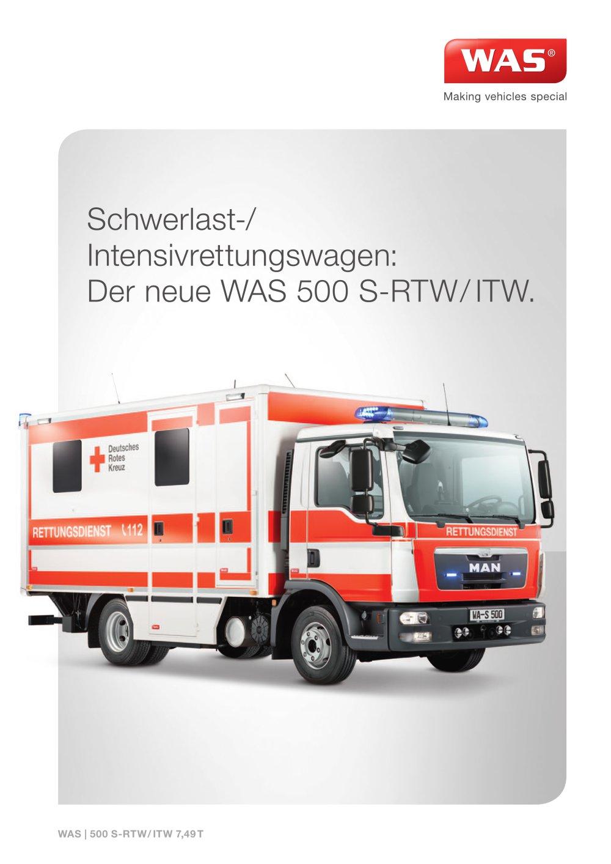 WAS 500 Schwerlast-/ Intensivrettungswagen - Wietmarscher Ambulanz ...