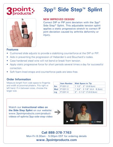 3pp® Side Step™ Splint