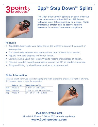 3pp® Step Down™ Splint
