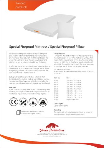 Fireproof Mattress and Pillow