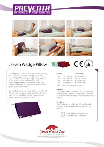 PREVENTA - Wedge Pillow