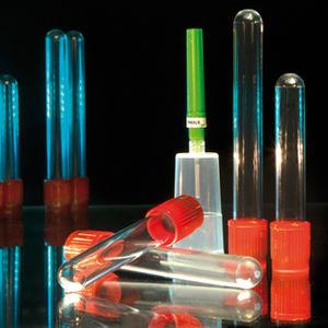 zylinderförmiger Probenahmeröhrchen / Serum / mit Gerinnungsaktivator