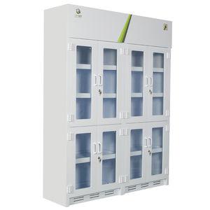 Schrank für Chemikalien / Labor / mit Regal / mit Tür