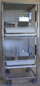 Tierkäfig für Tierversuche / für Kaninchen