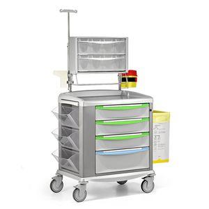 Wagen für Transport / Lager / für Medikamente / 4 Schubladen