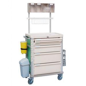 Anästhesiewagen / für Medikamente / mit Schublade / Abfalleimer
