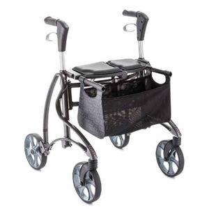 4-Rollen-Rollator / mit Korb / zusammenklappbare / höhenverstellbar