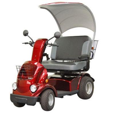 Elektrischer Scooter / 4 Räder / Adipositas / mit Korb