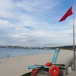 manueller Rollstuhl / zur Nutzung am Strand