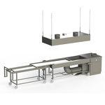 Tisch für Autopsie / zum Sezieren / rechteckig / Mobiler