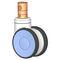 PolyurethanradNSCLCTPRS-4''Xinchen Caster Wheels