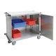 Chirurgie-Wagen / für Transport / für sterile Gegenstände / mit Tür