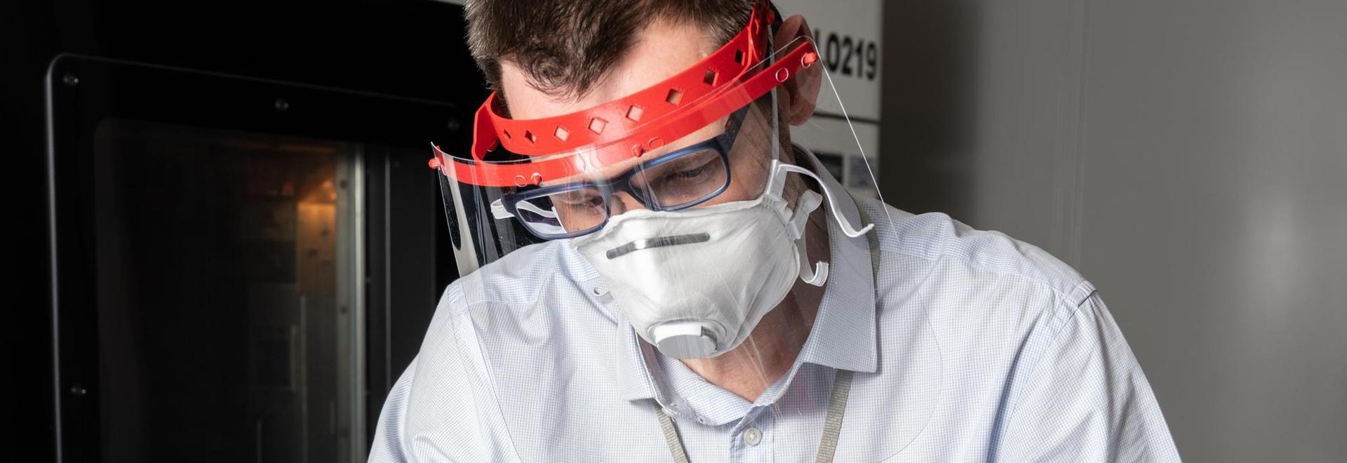 Gesichtsschutzschilde ermöglichen es auch, die Lebensdauer der Maske zu verlängern.