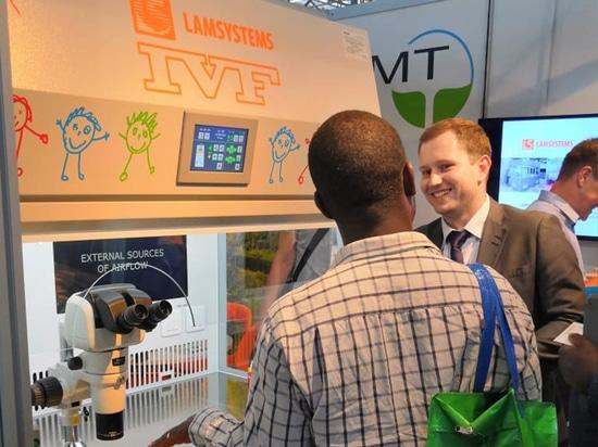 LAMSYSTEMS IVF Arbeitsplatz auf der ESHRE 2019 Konferenz