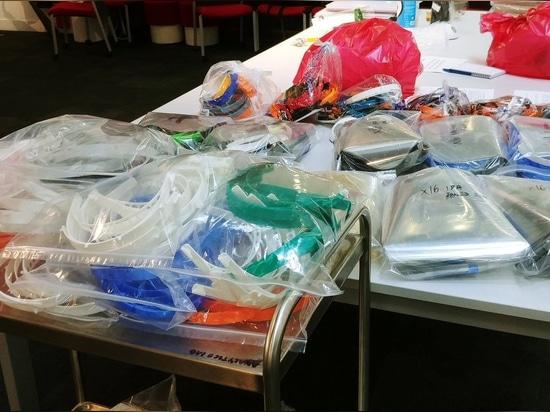 400 Gesichtsschutzschilde stehen zur Auslieferung bereit