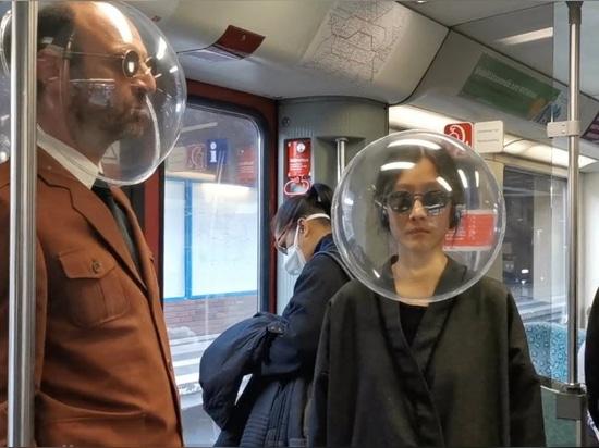 Durch Kunststoffblasen isoliert: iSphere ist ein Open-Source-Gesichtsschutzgerät