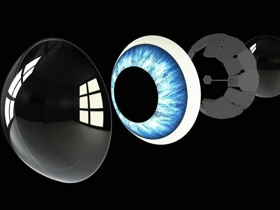 """""""Alle Komponenten sind in einer skleralen Kontaktlinse versiegelt, in die Ihre Sehstärke integriert ist, so dass Sie auch in der realen Welt besser sehen können."""""""
