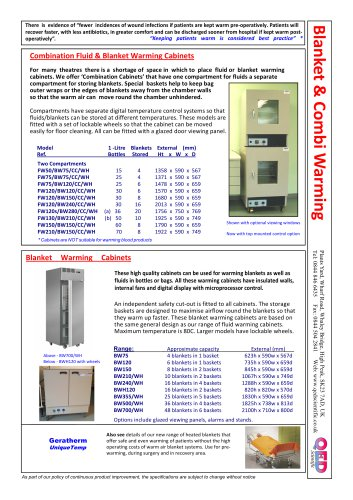 Fluid Warming Blanket Combination Cabinets