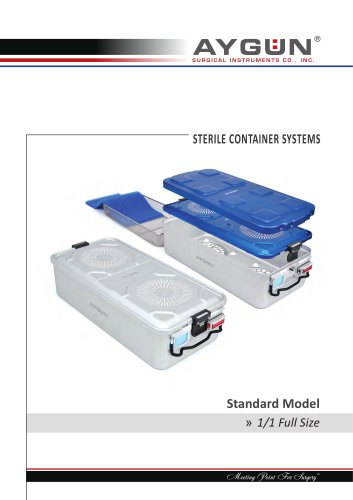 STERILE CONTAINER SYSTEMS Standard Model 1/1 Full Size