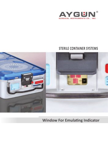 STERILE CONTAINER SYSTEMS  Window For Emulating Indicator