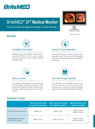 """BriteMED 21"""" Medical Touch Display_MMS-21CT series"""