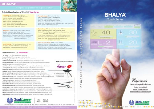 SHALYA Touch Series