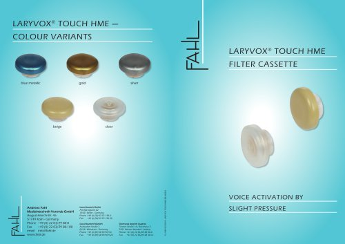 LARYVOX® TOUCH HME