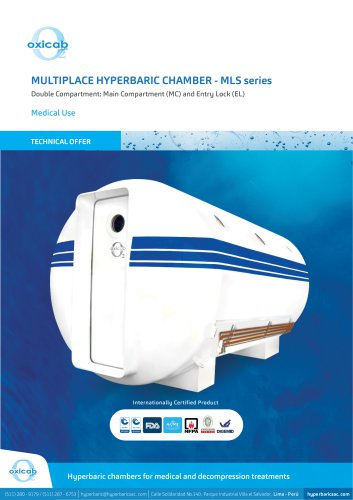 MLS series Multiplace Hyperbaric Chamber