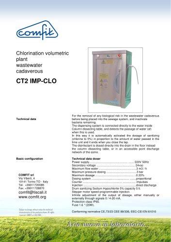 Chlorination volumetric plant wastewater cadaverous CT2 IMP-CLO