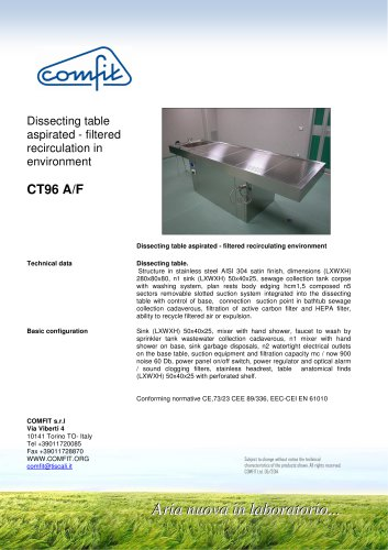 CT96 A/F Dissecting Table