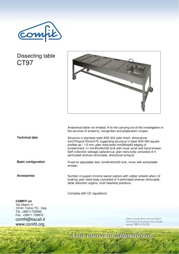 Dissecting table CT97