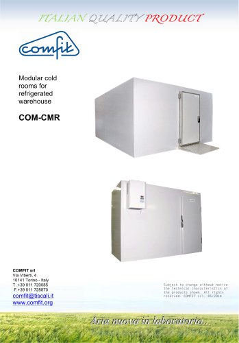 Modular cold rooms for refrigerated warehouse