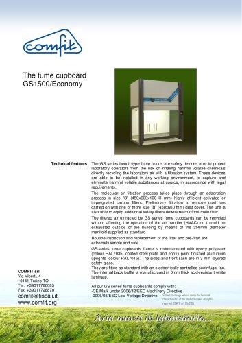 The fume cupboard GS 1500/Economy