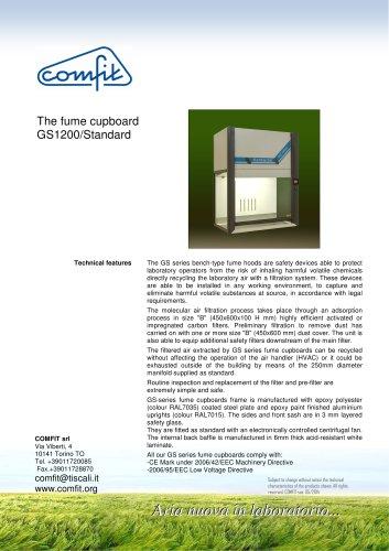 The fume cupboard GS1200/Standard