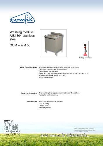 Washing module AISI 304 stainless steel